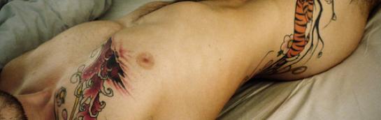 gay nude, gay nude model, tattoo, male nude tattoos
