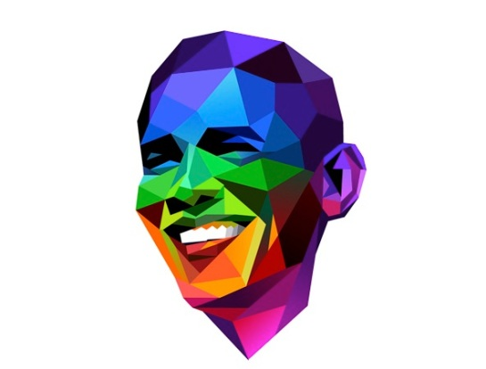 Illustration celebrating President Obama's support of gay marriage.